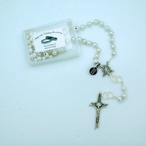SILVER 25th WEDDING ANNIVERSARY ROSARY