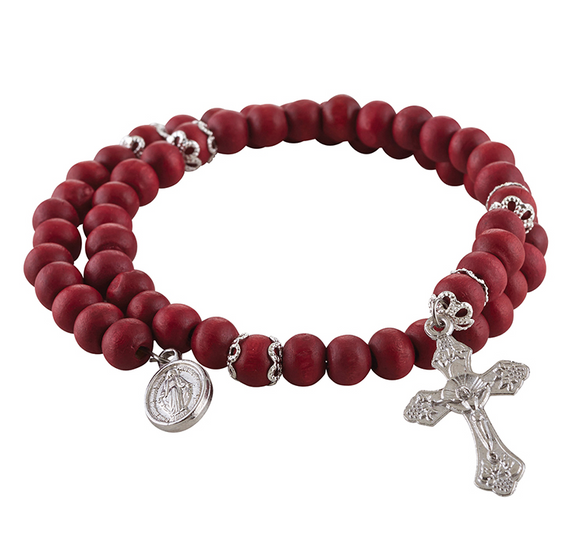 RED WRAP SCENTED ROSARY