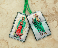 SCAPULAR WITH OLO GUADALUPE AND SAINT JUDE