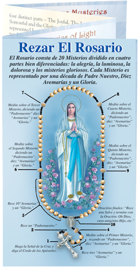 SPANISH HOW TO PRAY THE ROSARY PAMPHLET