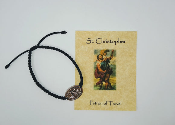 SAINT CHRISTOPHER CORD BRACELET