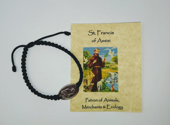 SAINT FRANCIS OF ASSISI CORD BRACELET