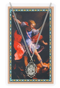 SAINT MICHAEL MEDAL & PRAYER CARD