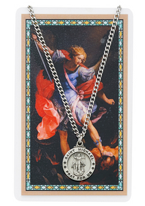 SAINT MICHAEL PENDANT & PRAYER CARD