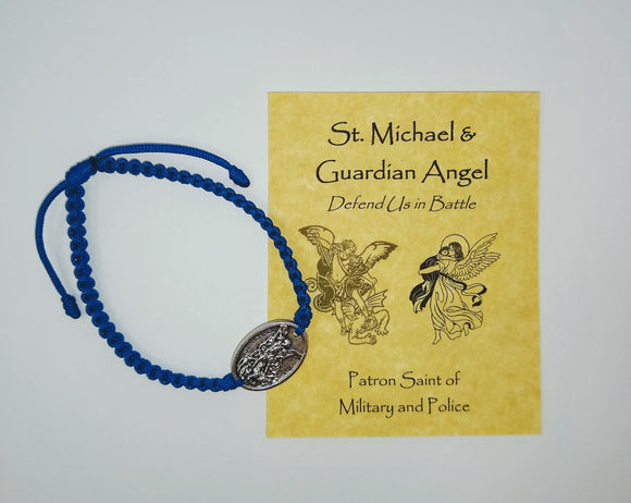 SAINT MICHAEL & GUARDIAN ANGEL CORD BRACELET