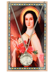 SAINT THERESE PENDANT & PRAYER CARD