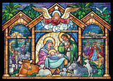 STAINED GLASS NATIVITY - BOX OF CHIRSTMAS CARDS