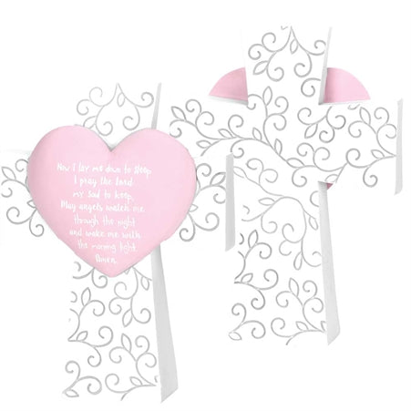 GIRLS TABLE CROSS - PINK