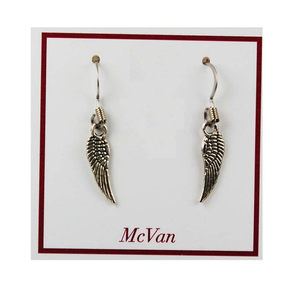 ANGEL WING FISH HOOK STYLE EARRINGS
