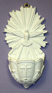 HOLY SPIRIT FONT WHITE RESIN 5""