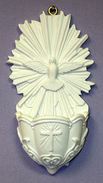 HOLY SPIRIT FONT WHITE RESIN 5