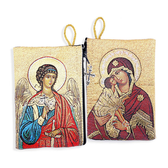GUARDIAN ANGEL / VIRGIN MARY OF DON ROSARY POUCH