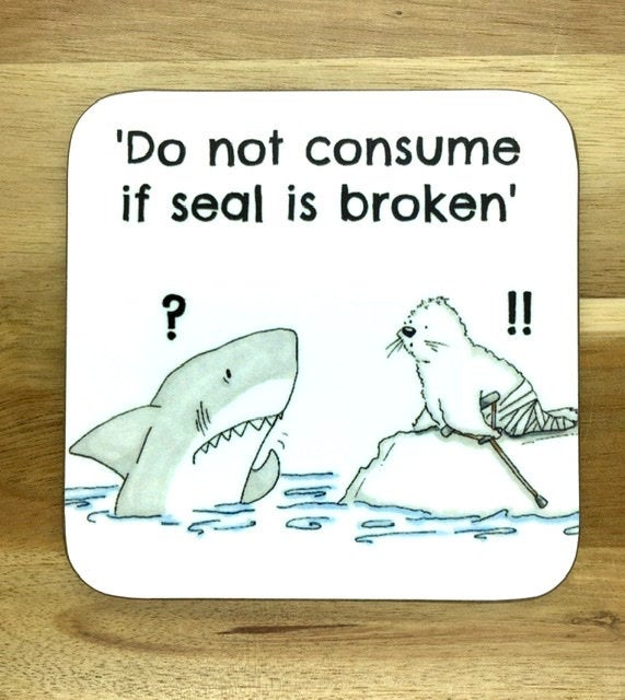 Shark and Seal Coaster