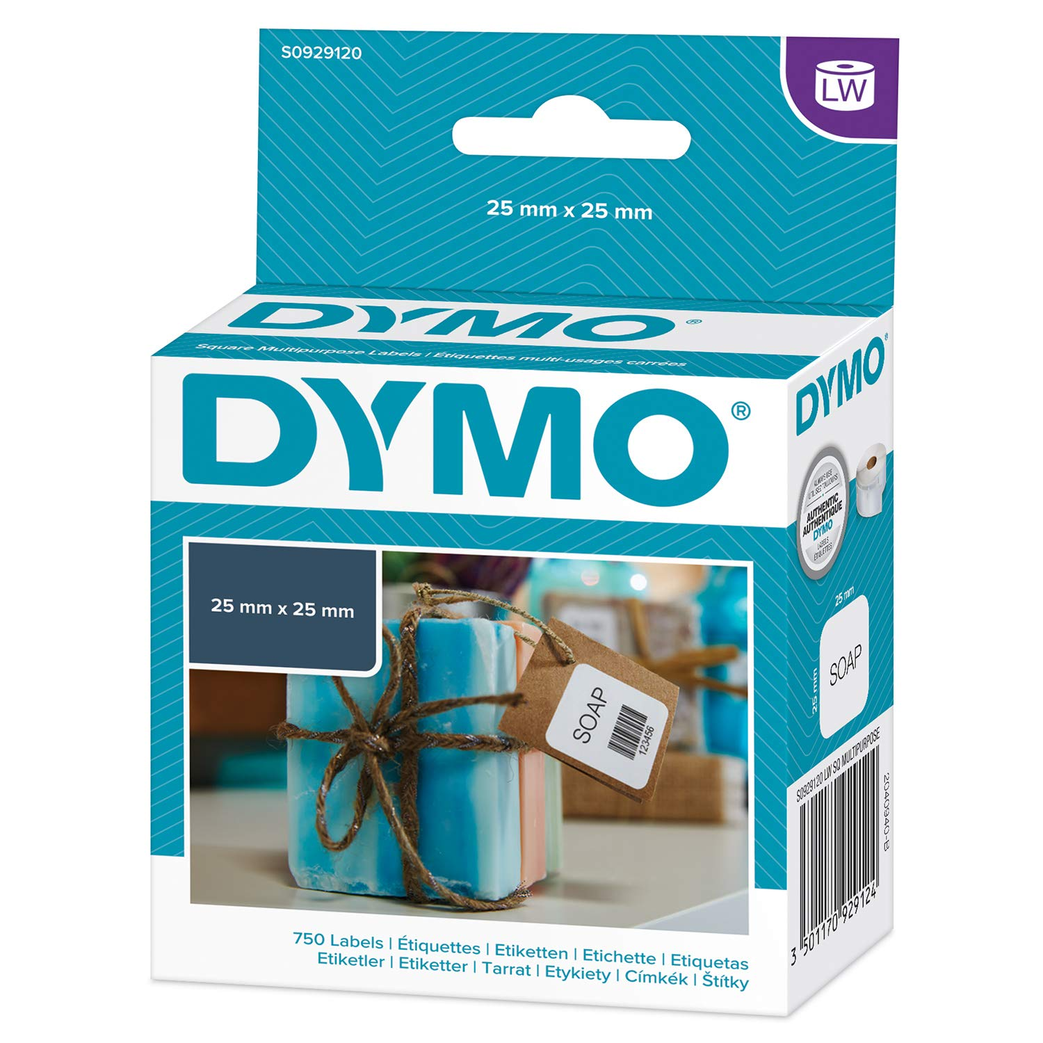 Dymo 25 mm x 25 mm labels