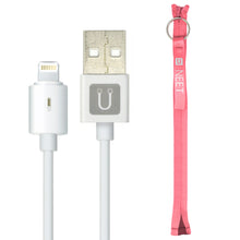 Load image into Gallery viewer, NEET Zippered Cable Tie Wrap with Apple Certified Lightning Cable (20 cm/ 8 inch).