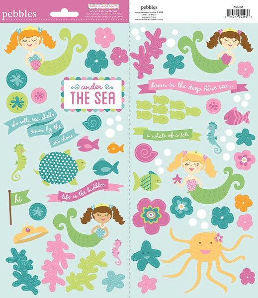 Pebbles Cardstock Stickers - Mermaid