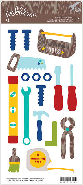 Pebbles Cardstock Stickers - Tools - Icons