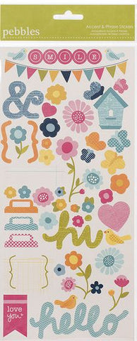 Pebbles Cardstock Stickers - Smile