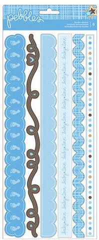 Pebbles Cardstock Stickers - Baby Boy - Borders