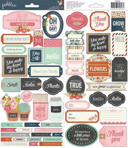 Pebbles Cardstock Stickers - Front Porch