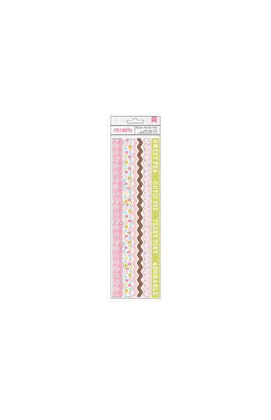 American Crafts Cardstock Stickers - Remarks - Baby Girl Borders