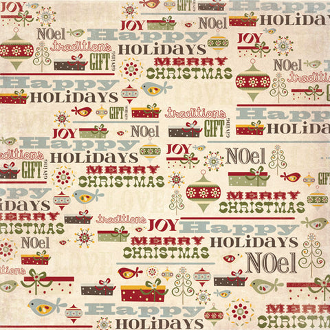 Fancy Pants Papers - Home for Christmas - Holiday Thoughts - 2 sheets