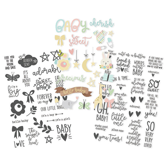 Simple Stories Clear Sticker Pack - Oh Baby