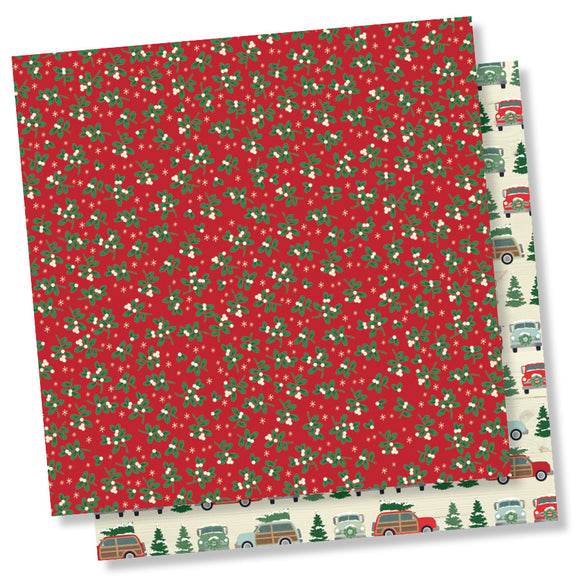 Simple Stories Papers - Merry & Bright - It's a Wonderful Life - 2 Sheets