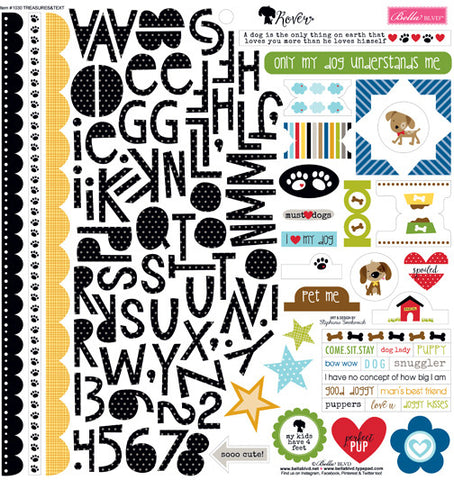 Bella Blvd 12x12 Cardstock Stickers - Rover - Treasures & Text