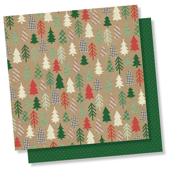 Simple Stories Papers - Merry & Bright - Hello December - 2 Sheets