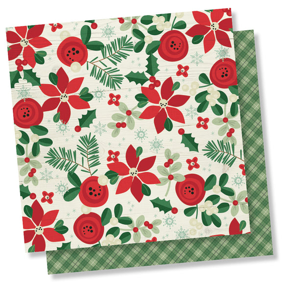 Simple Stories Papers - Merry & Bright - Joy and Happiness - 2 Sheets