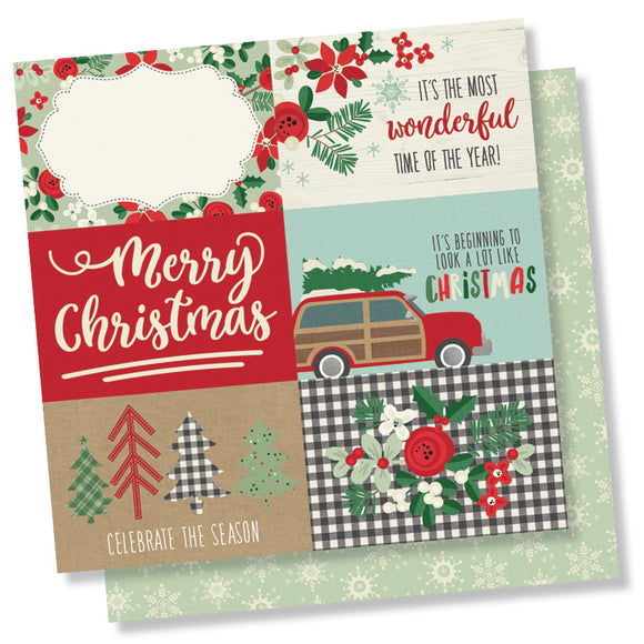 Simple Stories Cut-Outs - Merry & Bright - 4x6 Horizontal Elements