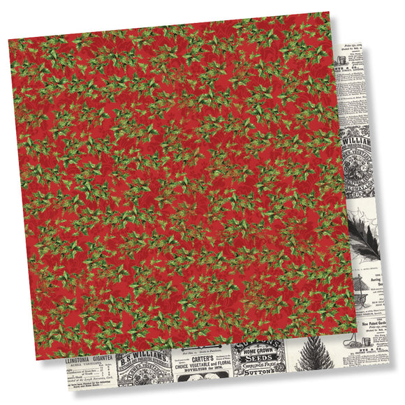 Simple Stories Papers - Simple Vintage Christmas - Deck the Halls - 2 Sheets