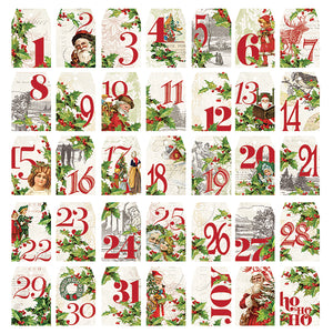 Simple Stories Ephemera - Simple Vintage Christmas - Number Tags