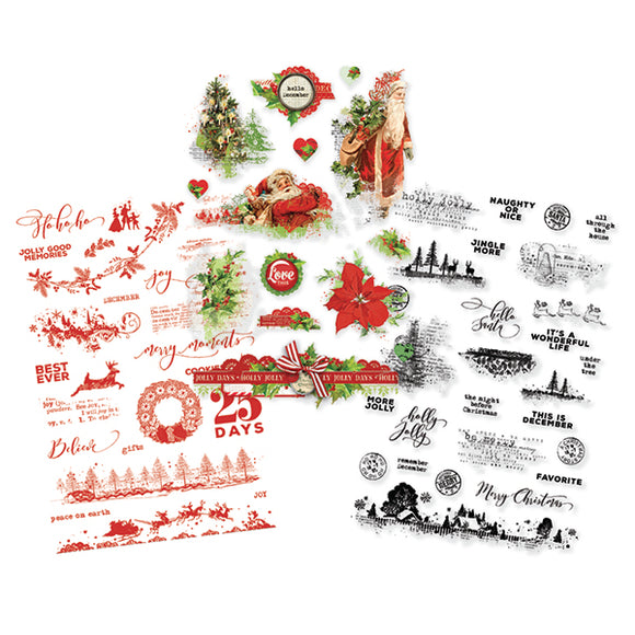 Simple Stories Clear Sticker Pack - Simple Vintage Christmas