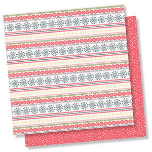 Simple Stories Papers - Freezin' Season - Sweater Weather - 2 Sheets