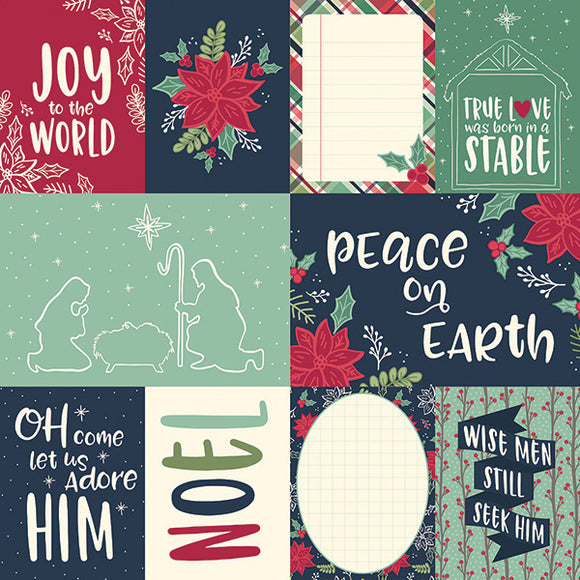 Simple Stories Cut-Outs - Peace On Earth - 3x4 & 4x6 Elements
