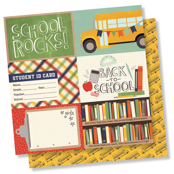 Simple Stories Cut-Outs - School Rocks - 4x6 Horizontal Elements