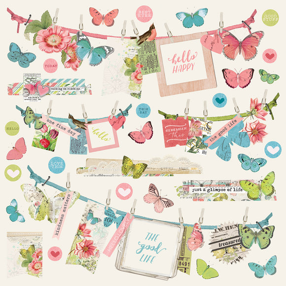 Simple Stories 12x12 Cardstock Stickers - Simple Vintage Botanicals - Banners