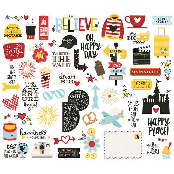 Simple Stories Bits & Pieces - Say Cheese 4 - Icons & Phrases