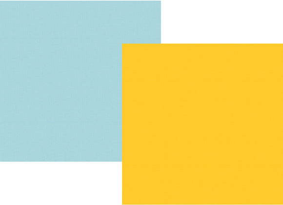 Simple Stories Papers - Say Cheese 4 - Yellow/Light Blue - 2 Sheets