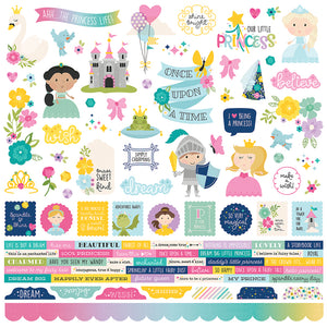Simple Stories 12x12 Cardstock Stickers - Little Princess