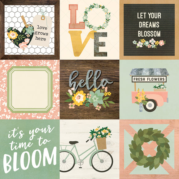 Simple Stories Cut-Outs - Spring Farmhouse - 4x4 Elements