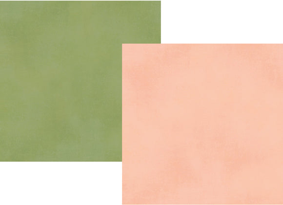 Simple Stories Papers - Spring Farmhouse - Blush/Green - 2 Sheets