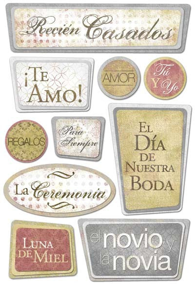 Karen Foster Cardstock Stickers - Our Wedding Spanish