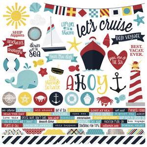 Simple Stories 12x12 Cardstock Stickers - Crusin'