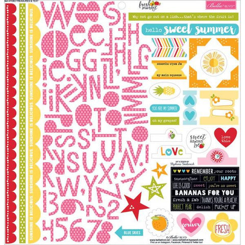 Bella Blvd 12x12 Cardstock Stickers - Fresh Market - Treasures & Text