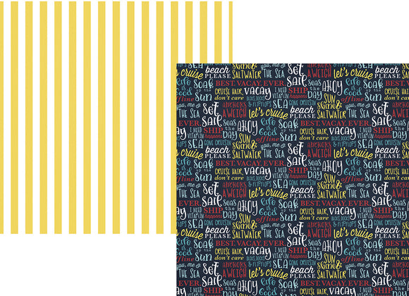 Simple Stories Papers - Cruisin' - Ahoy - 2 Sheets