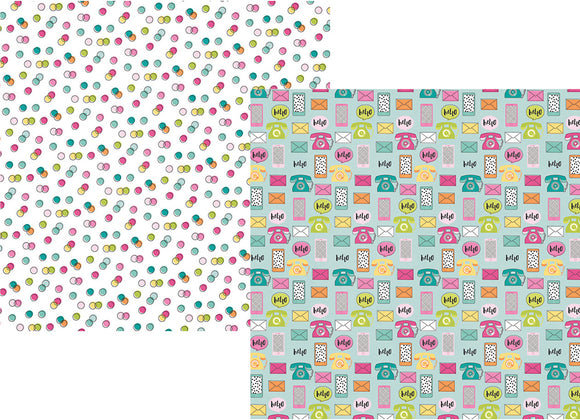 Simple Stories Papers - Oh Happy Day - Oh Hello - 2 Sheets