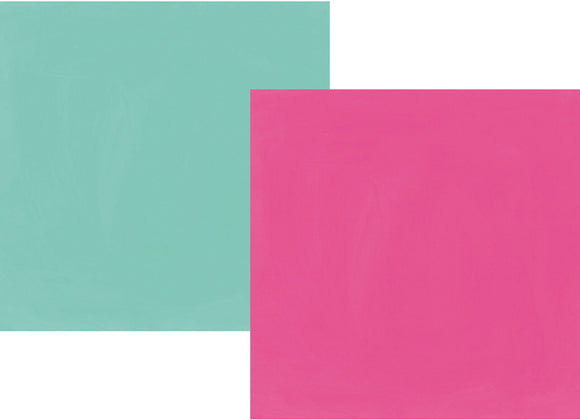 Simple Stories Papers - Oh Happy Day - Fuchsia/Turquoise - 2 Sheets
